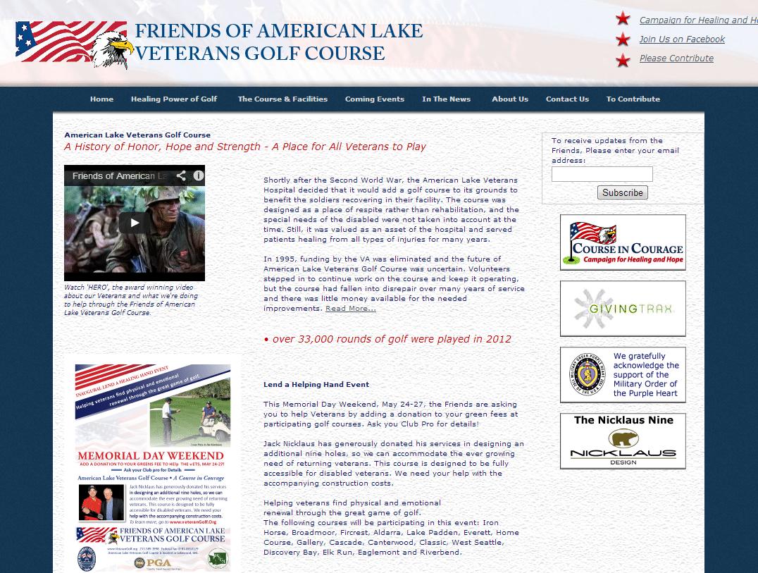 Friends of American Lake Veterans Golf Course website