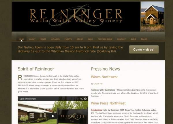 Reininger Winery website