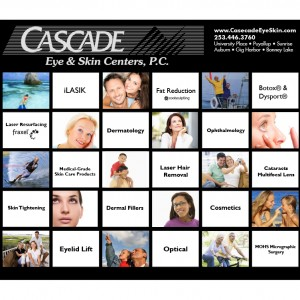 Cascade Eye & Skin Care tradeshow backdrop