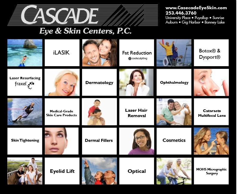 Cascade Eye & Skin Care tradeshow backdrop