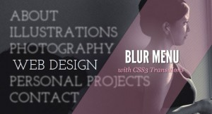 Blur Menu with Css3