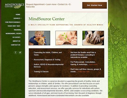 Mindsource Center website
