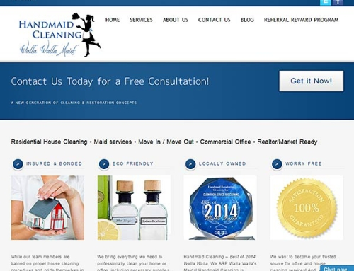 Handmaid Cleaning website makeover